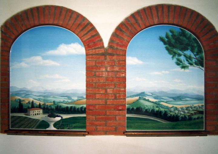 La galleria di silvia paesaggi - Finestra a due archi ...